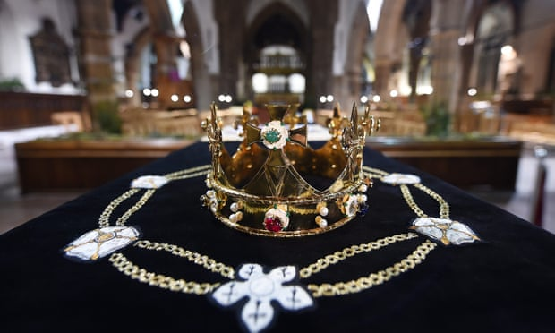 Richard III's coffin at Leicester Cathedral before the Plantagenet king was reburied there in 2015. Photograph: Andy Rain/EPA